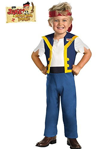Disney Jake And The Neverland Pirates Jake Classic Costume, Blue/Brown, Medium