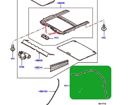 Genuine Land Rover SUNROOF WATER DRAIN TUBE REAR RANGE ROVER SPORT 06-13 EEH500130