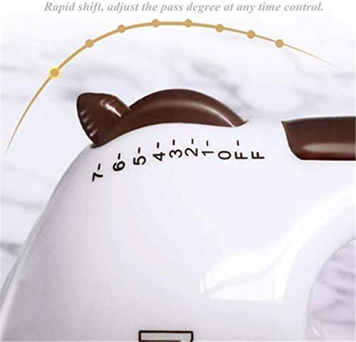 PLEASUR Batidora eléctrica de Cocina, batidora de Mano de Acero Inoxidable con 7 configuraciones de Velocidad, Mini batidoras de Cocina, Pastel, Masa