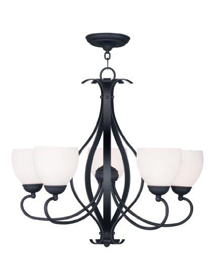 Cheap Livex Lighting 4765-04 Brookside 5-Light Chandelier, Black