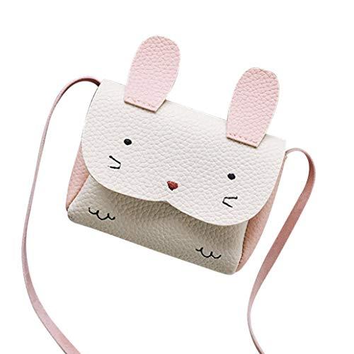 Children Grils Cute Ribbti Leather Handbag Cover Lock Shoulder Bag Mini Crossbody Bag (Gray) White