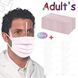 50Pack 3Ply Disposable Face_Mask with 10Pack