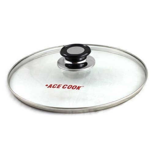 Amazon.com: Tempered Glass Lid for Pot & Pans with Vent Hole, 32 cm: Woks: Kitchen & Dining