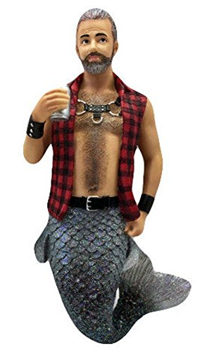 December Diamonds Sir Leather Merman Wearing Flannel Christmas Ornament 5555043,Multicolor,One Size
