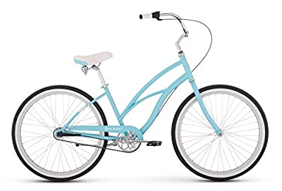 "Raleigh Bikes Women's Special 3 Step Thru Cruiser Bike, 24""/One Size, Sky Blue"