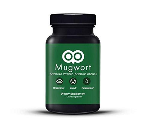 Mugwort Capsules 450 Mg - 90 Capsules - Vegan - By Dream Leaf - Made in USA - Mood, Dreaming, Relaxation, Digestion - Mugwort As Artemisa Annua)