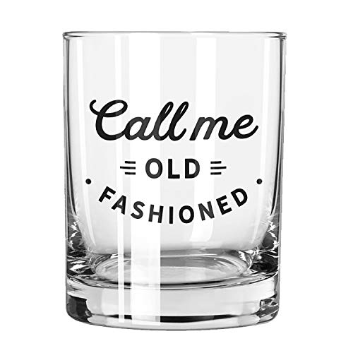 SB Design Studio F1443 Sips Barstool Philosopher Whiskey Glass, 13.5-Ounces, Call Me Old Fashioned