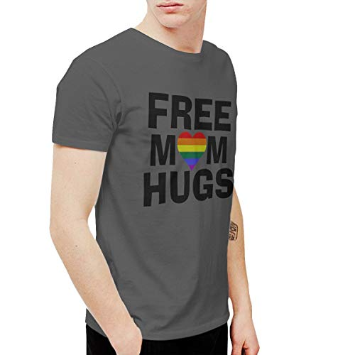 (Shuaihong Official Free Mom Hugs Men's Comfortable T-Shirt 3XL Deep)
