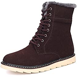 YINHAN® Men's High Top Warm Boots Fur Lining Laced Up Casual Shoes