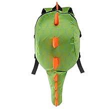 Deer Mum Childrens Backpack 3d Cute Little Dinosaur Schoolbag Toddler Kids Daypack (green)