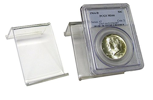 Certified Coin Easel for All Graded Slabs or Holders – Clear Acrylic Display Stand – Lot of 5