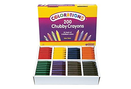 Colorations CRCHB Chubby Crayons (Pack of (Discount School Supply)