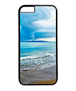 VUTTOO Iphone 6 Plus Case, Turquoise Beach PC Hard Case for Apple Iphone 6 Plus 5.5 Inch Black