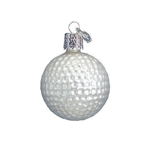 Golf Ball Ornaments (Old World Christmas Glass Blown Ornament with S-Hook and Gift Box, Sports Collection (Golf)
