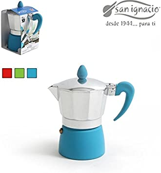 San Ignacio CAFETERA 3 Tazas Soft Touch Splash: Amazon.es: Hogar