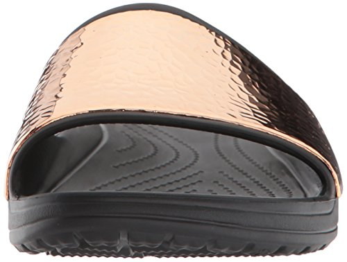 Crocs Women Croslite Slide Hammered Sloane Oro Nero Metallic rose xwfZnvqA