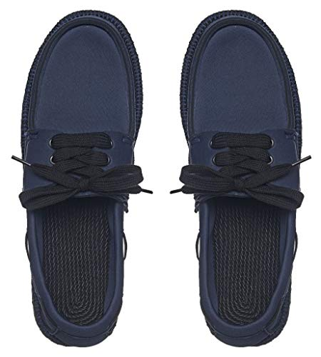 Showaflops Mens' Classic Boat Shoe Style Neoprene Loafer, Navy 9/10