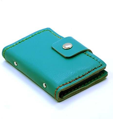 NanJi Unisex Genuine Leather Business Card Holder Credit Card Bag