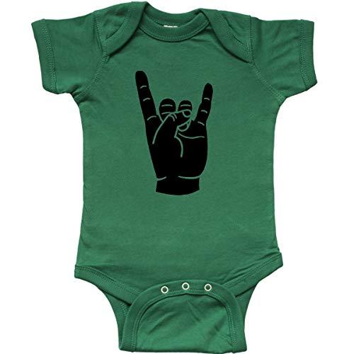(inktastic - Rocker Horns Infant Creeper 6 Months Kelly Green 18b1d)