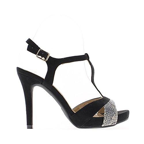 Sandales 11cm Sandales Noires Noires Talon De De Talon RwPxtt