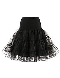 Tenworld Women's 50s Rockabilly Petticoat Skirts Tutu Crinoline Underskirt
