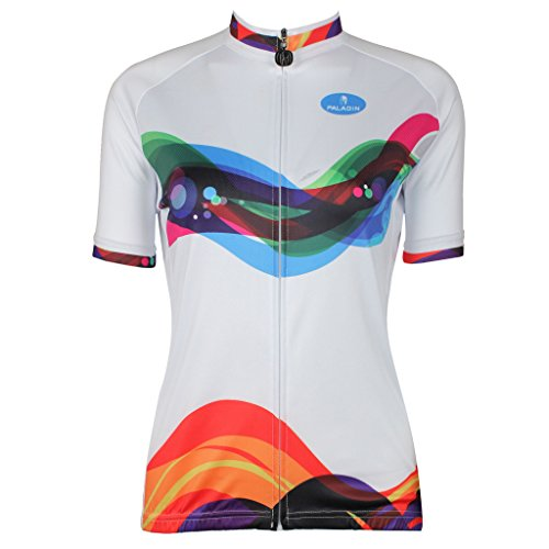 QinYing Women's Short Sleeve Outdoor Bicycle Bike Cycling Je