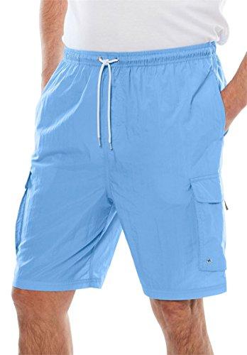 - KingSize Men's Big & Tall Nylon Cargo Swim Trunks, Ocean Blue Big-3Xl