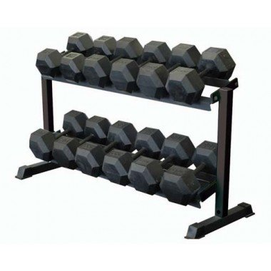 OlympiaSports BE303P Dumbbell Rack - 2 Tier44; 55 lbs. by Olympia Sports