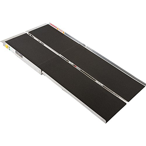 6' Portable Folding Aluminum Wheelchair & Scooter Ramp by Prarie View Industries
