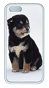 iPhone 5 5S Case Cute Little Black Dog 2 TPU Custom iPhone 5 5S Case Cover White