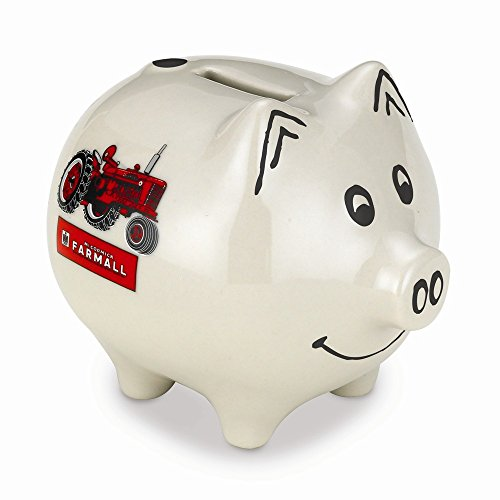 Farmall Saving Piggy Bank White with (Sadek Box)