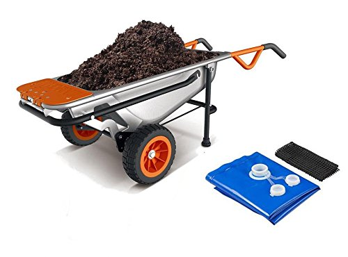 Cheap WG050 WORX 8-in-1 Aerocart Wheelbarrow Garden Yard Cart + FREE Water Hauler