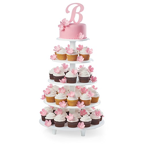 Wilton Towering Tiers Cupcake and Dessert Stand, Great for Displaying Cupcakes, Danishes and Your Favorite Hors d'Oeuvres, White, 3-foot, 28-Piece by Wilton (Image #6)