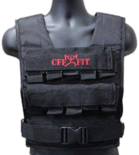 CFF verstellbar Gewichtsweste 30 kg 66 lbs mit gratis zusätzliche Weste Shell – Große für Cross Training & Feuerwehr Training