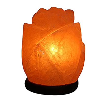 Natural Himalayan Salt Lamp - Flower Shape
