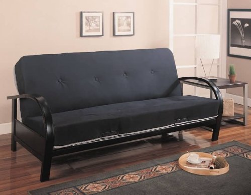 coaster-home-furnishings-transitional-futon-frame-black
