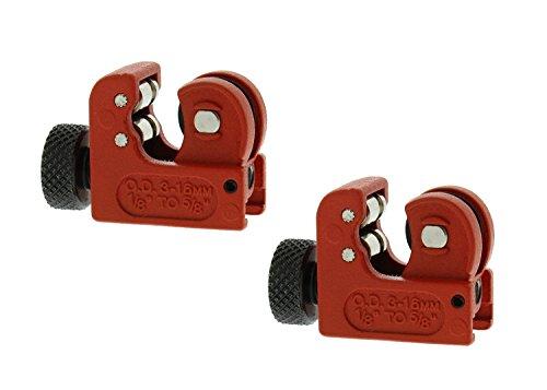 (ABN | Mini Tube Cutter - 2 PK Tubing Cutter Close Quarter Copper Pipe Cutter Tool PVC Cutters, 1/8-5/8