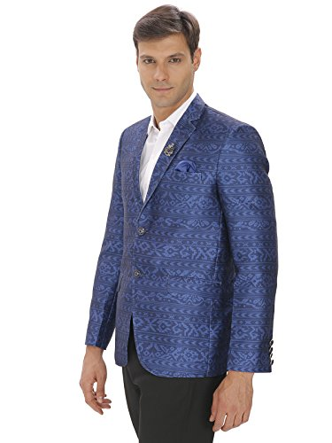 1990917625f Amador Fashions Blue Printed Blazer  Amazon.in  Clothing   Accessories