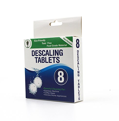 Descaling Tablets 8 Pack for Coffee & Espresso Machines, Eco-Friendly by Bamb Clean