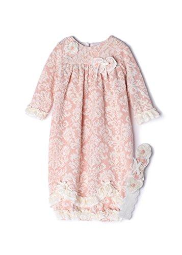 Isobella & Chloe Baby Girls Pink Vintage Rose Layette Sack - Chloe Vintage