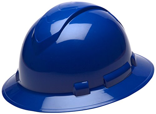 Light Blue Hard Hat (Pyramex Ridgeline Full Brim Hard Hat, 4-Point Ratchet Suspension,)