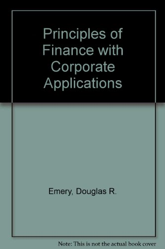 fin301a principles of finance research project Principles of managerial finance (fin 301) university fin 301 ch 7 homework.