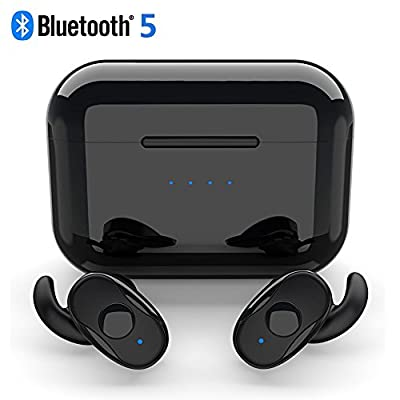True Wireless Earbuds, Parihy Revolutionary Bluetooth 5.0 Real Sports In-ear Earphones, Dual Modes, Dual Chips, 2000mAh Box, Anti-dropout Sweatproof Earpieces, Running Sports Headphones
