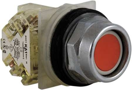 Square D Schneider Electric 9001KR2RH13 Push Button, 600VAC, 10A, 30MM, TK Red (Square D Push Buttons)