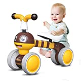 Ancaixin Baby Balance Bikes Children Walker for 10-36 Month, Developmental Bicycle Toys for 1 Year Old Boys Girls, No Pedal Infant 4 Wheels, Toddler Top First Birthday