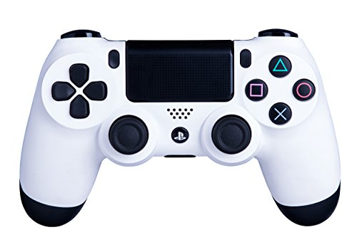 DualShock 4 Wireless Controller for PlayStation 4 - Soft Touch White PS4 - Added Grip for Long Gaming Sessions - Multiple Colors Available (Control Freaks Xbox 360 Green)