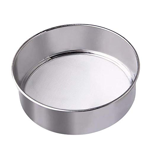 ECO-WORTHY Stainless Steel Round 8mm 5mm 3mm 10-200 Mesh Flour Sieve Customized Sieves Set Compatible with Automatic Sifter Shaker Machine Powder Vibrating(1 Piece Screen)