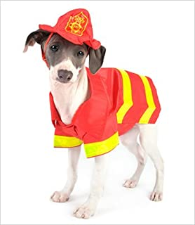 Fireman Costume for Dogs - Size 5 (14  l x 18.5  ... & Amazon.com : Prehistoric Sabertooth Tiger Dog Pet Costume Size X ...