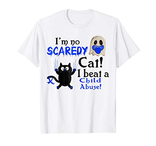 I'm No Scaredy Cat I Beat Child Abuse Funny Halloween Shirts for $<!--$19.99-->
