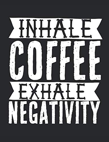 Inhale Coffee Exhale Negativity: A wide ruled, lined composition book for coffee -